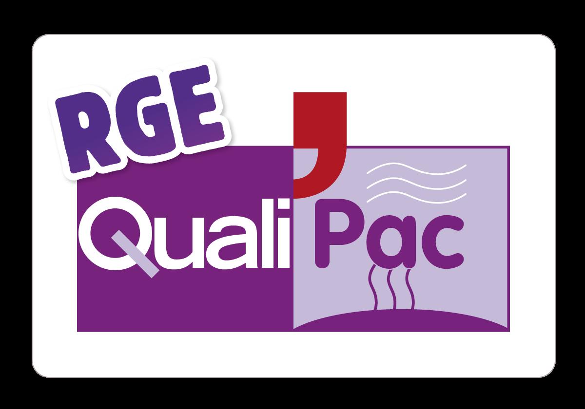 logo-qualipac-RGE_pompe à chaleur-philippe foubert plombier chauffagite à merignac